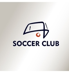 Template logo Football Soccer Club vector