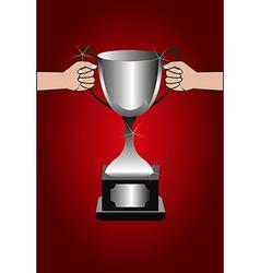 Trophy winners background vector