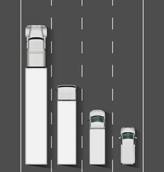 Trucks on highway vector