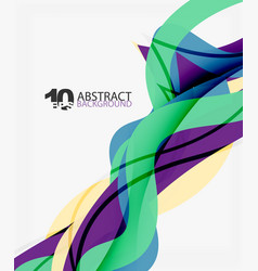 Wave lines abstract background vector
