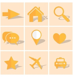 colored paper icons vector image vector image