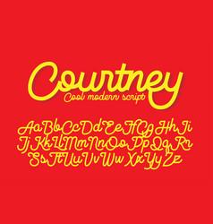 courtney cool modern script font vector image vector image