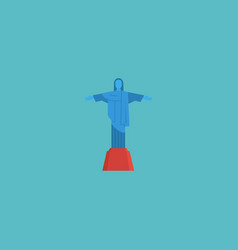 flat icon christ the redeemer element vector image