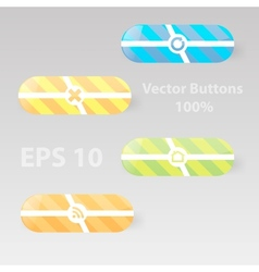 Icon with white button vector image