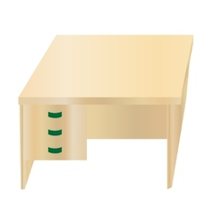 Isolated office table vector image