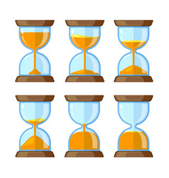 key frames of hourglasses isolate on white vector image