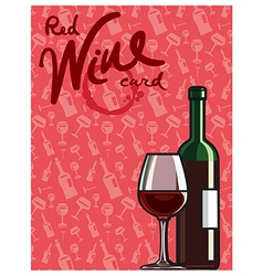 red wine card vector image vector image