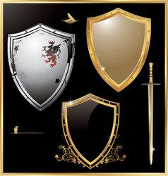 shield - set vector image