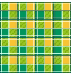Yellow Green White Chessboard Background vector image vector image
