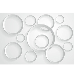 Abstract gray circle background vector image vector image