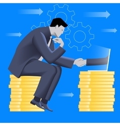 Deal over internet business concept vector image