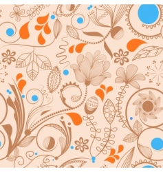 floral peach pattern vector image vector image