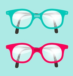 Retro Glasses Set vector image vector image