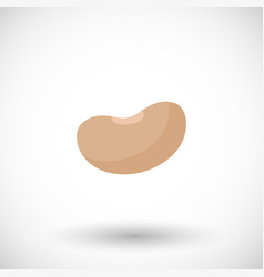 soy bean flat icon vector image