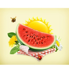 Summer time for a picnic watermelon nature outdoor vector image vector image