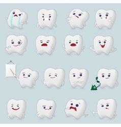 Teeth cartoons set vector image vector image