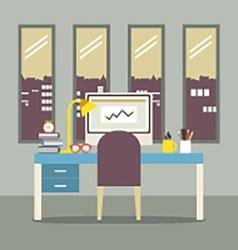 Modern Flat Design Workplace vector image