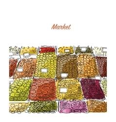 Oriental bazaar sketch for your design vector image vector image
