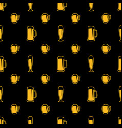 seamless beer glasses pattern vector image vector image