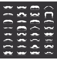 Mustaches icons set Isolated symbol vector image vector image