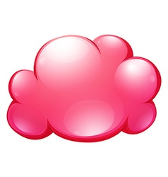 Pink cloud on white vector image vector image