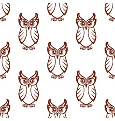 Seamless pattern of a wise old owl vector image vector image