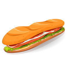 swedish sandwich with salmon fish fresh cheese vector image vector image