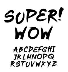 trendy hand-drawn watercolor alphabet - lowercase vector image