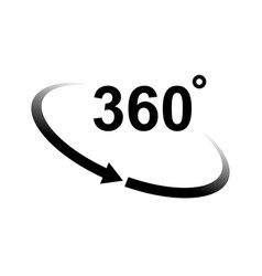 360 degrees vector image