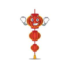 A cartoon lampion chinese lantern wearing vector