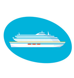 A large multi-storey cruise passenger liner vector