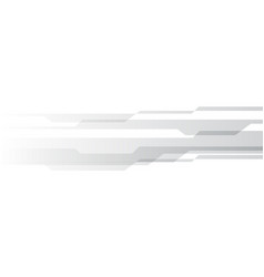 Abstract grey cyber technology on white design vector