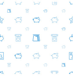 Account icons pattern seamless white background vector