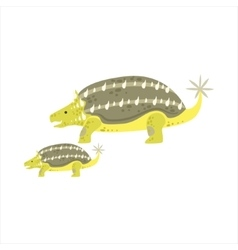 Ankylosaurus Dinosaur Prehistoric Monster Couple vector