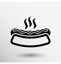 Appetizing hotdog such logo version also available vector image