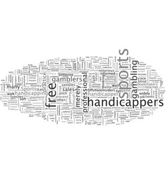 Are you handicapped without a sports handicapper vector