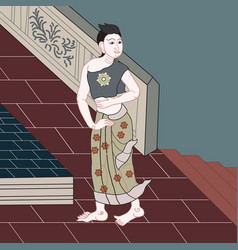 Art of applied thai painting vector
