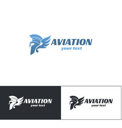 aviation logo design six vector image