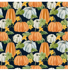 beautiful autumn seamless pattern with vector image