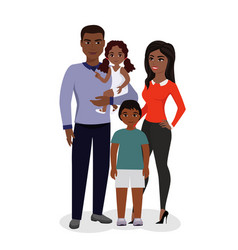 Beautiful happy family vector
