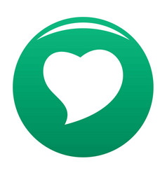 Brave heart icon green vector