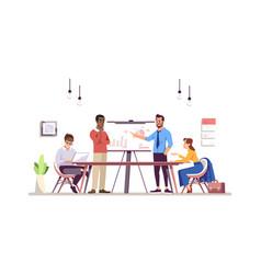 Business training flat vector