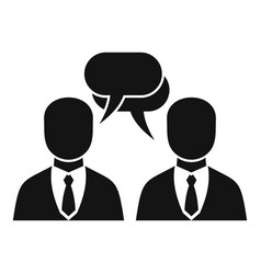 businessman conversation icon simple style vector image