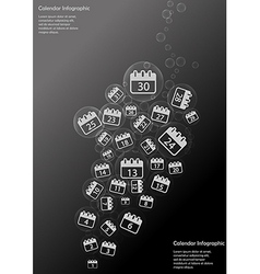 Calendar Infographic vector