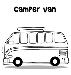 Camper van of art vector