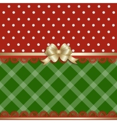 Christmas background fabric vector image