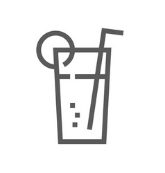 cocktail drink and beverage line icon vector image