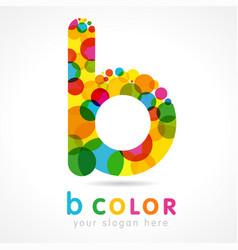 Colored b logo vector
