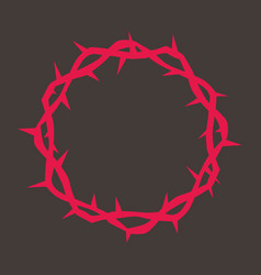 Crown of thorns of jesus vector