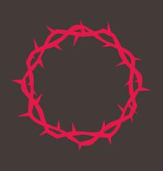Crown thorns jesus vector
